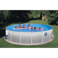 18 x 42 Above-Ground Easy Setup Outdoor Swimming Pool Set w Ladder & Filter