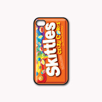 Skittles Candy Custom Print on Hard Plastic And Rubber for iPhone 4/4s/5, Samsung Galaxy S3/S4 & iPod 4/5 Case. Choose the option