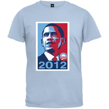 Obama - 2012 Campaign Poster Light Blue T-Shirt