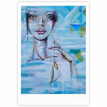 "Kira Crees ""Alice"" Blue Multicolor People Painting Fine Art Gallery Print"