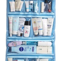 WODISON Foldable Clear Hanging Travel Toiletry Bag Cosmetic Organizer Storage