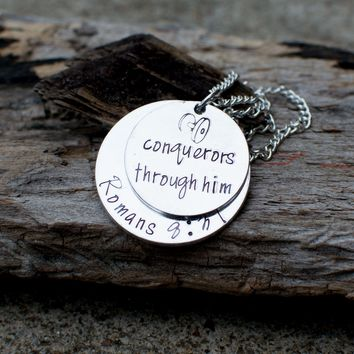 Conquerors through him necklace