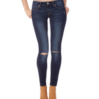 Aeropostale  Womens Destroyed Dark Wash Jeggings
