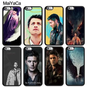 MaiYaCa Castiel Angel of the lord supernatural Soft Rubber Phone Cases Bags For iPhone 6 6S Plus 7 8 Plus X 5 5S SE Back Cover