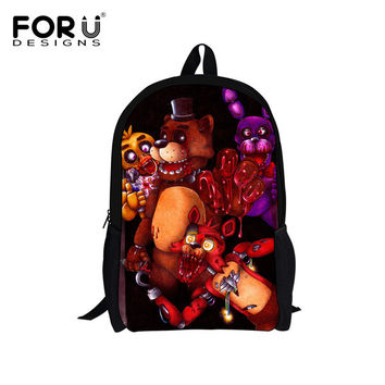 Five Nights at Freddys School Bags for Teenager Girls Boys Cute Cartoon Backpack Kids Schoolbag Children Bookbag Mochila Escolar