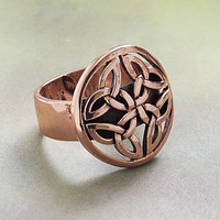 Copper Celtic Ring - New Age, Spiritual Gifts, Yoga, Wicca, Gothic, Reiki, Celtic, Crystal, Tarot at Pyramid Collection