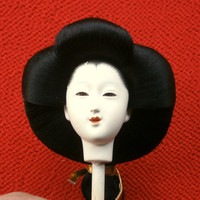 Japanese Doll Head - Woman Doll - Queen - Hina Ningyo -  Large Size - D4-38