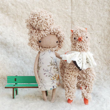 OOAK Doll / OOAK Art Doll Forest Fairy / Cloth Doll / Custom Doll / Blythe Doll / Rag Doll / Personalized Doll