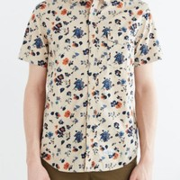 CPO Short-Sleeve Chambray Floral Button-Down Shirt