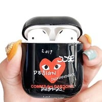 GUCCI Comme Des Garcons Play Fashion AirPods Bluetooth Wireless Earphone Case Protector (No Headphones)