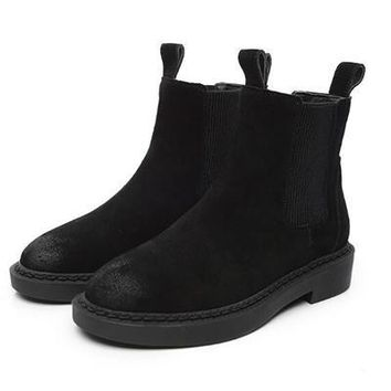 Genuine Leather Women Chelsea Boots