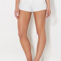 White Crochet Pocket Short in Curvy | Jean Shorts | rue21