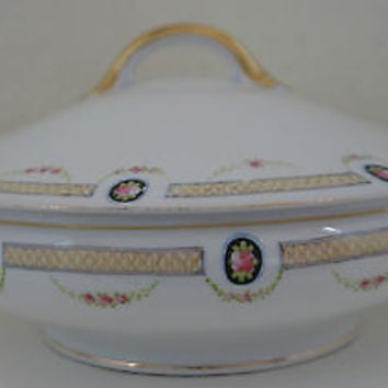 Vintage Noritake Nippon Covered Soup Tureen Hand Painted