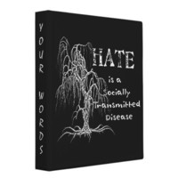 Hate is an STD Binders from Zazzle.com