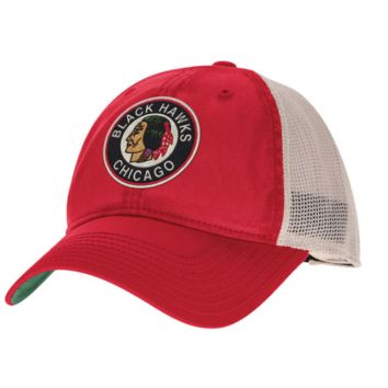 CCM Chicago Blackhawks Red/White Trucker Meshback Slouch Adjustable Snapback Hat