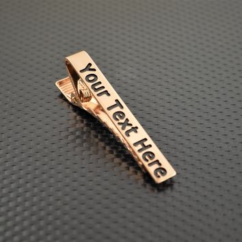 Custom Copper Tie Clip, Wedding Gift, Groomsmen Gift, Father's Day, and Graduation Gift