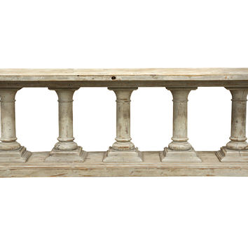 Console Vermont  Table, Whitewash, Console Table