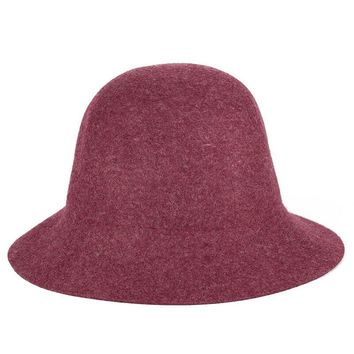 2017 100% Pure Cashmere Wool Felt Hats Women Solid Wide Brim Women Fedora Hat Vintage Floppy Pattern Cap Female new year gifts