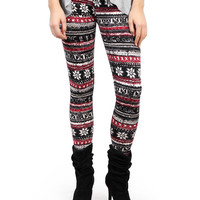 Fair Isle Print Fleece Leggings