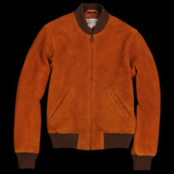 UNIONMADE - Levi's Vintage Clothing - 1960s Suede Bomber Jacket in Cognac