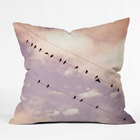 Shannon Clark Angelic Outdoor Throw Pillow