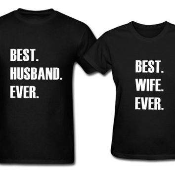 Husband and wife shirt. Couple matching shirt. Hubby wifey tshirt. Newlywed shirts. Honeymoon shirts. Anniversary gift. Wedding couple gift.