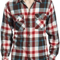 Modern Culture Men's Long Sleeve Basic Flannel, Warm Brown, Small