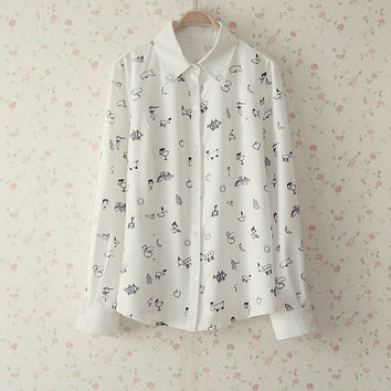 SALE / Limited Stock / Exo Kris Kriscasso Drawing Shirt xs s m l xl [FREE SHIPPING]