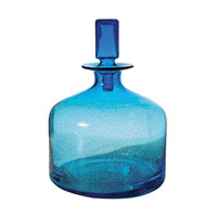 Lazy Susan Pool Blue Decanter