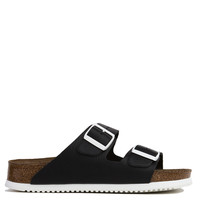 Birkenstock Arizona Soft Footbed Black Leather Sandals