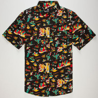 Dc Shoes Fiesta Mens Shirt Black  In Sizes