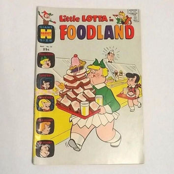 Vintage Little Lotta Foodland Harvey Comics Book, 1971 Issue 26