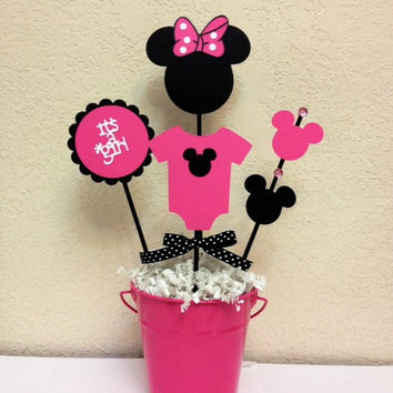 Minnie Mouse Baby Shower Decoration Centerpieces - Its a Girl