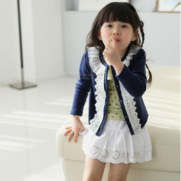 Baby Cardigan Jacket Girls Kids Lace Coat Long Sleeve Outwear Clothes Outffit Baby Toddler Girls Fur Fleece Knit Outwear Clothes