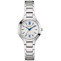 Bulova Womens Classic Watch - Silver / White Dial - Stainless Steel Bracelet