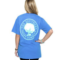 Southern Shirt Company Signature Logo T-Shirt in in Spinnaker Blue SIGLOGOTEE-SS-SPIN