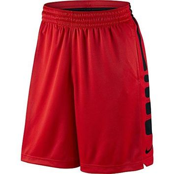 Nike Mens Elite Stripe Basketball Shorts University Red/Black 718378-657 Size Large