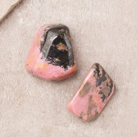 Rhodonite Pocket Stones - Set of 2