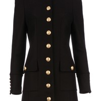 Balmain Structured Military Coat - Tessabit - Farfetch.com