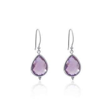 Amma Earrings • Amethyst • Silver