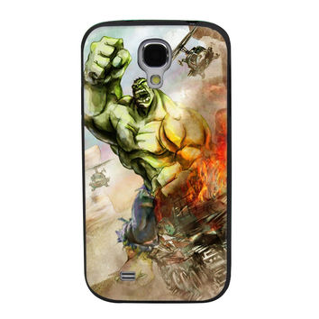 The Hulk Building Pose TPU Soft Shell Jelly Silicone Case for Samsung Galaxy S4