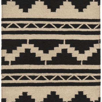 Surya Frontier FT431 Brown/Black Flatweave Southwest Area Rug