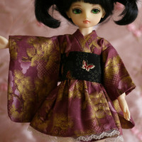Purple butterflies - Wa Loli Lolita dress for Yosd BJD