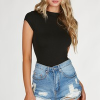 Slim Shadie Mock Neck Bodysuit