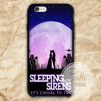 sleeping with sirens moon iPhone 4/4S, 5/5S, 5C Series Hard Plastic Case
