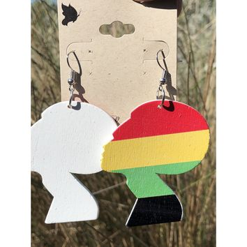 Abstract African flag figure