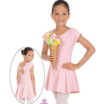 Eurotard 44285 Angelica Bow Back Leotard with Skirt - Child