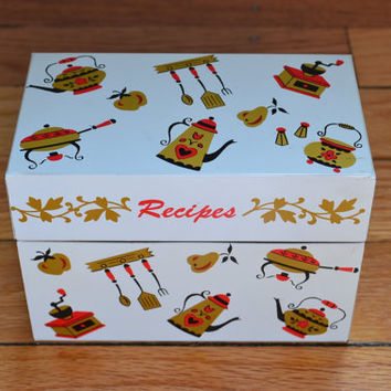Ohio Art Metal Recipe Box by PickledFurniture on Etsy