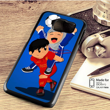 Chelsea Girl And Liverpool Boy Anime Samsung Galaxy S4 S5 S6 Edge Plus S7 Edge Case Note 3 4 5 Edge Case