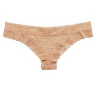 Aerie Women's Vintage Lace Mini Cheeky (Natural Nude)